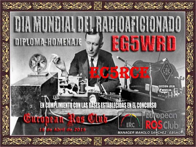 Obtenido el diploma «Día Mundial del Radioaficionado»